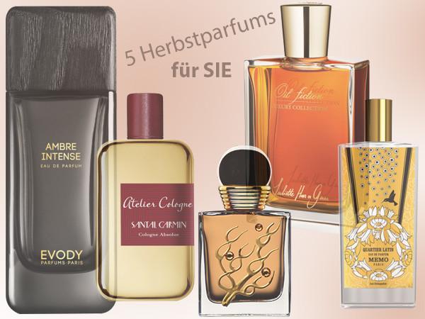 5 neue Herbstparfums für Sie aus der Online Parfümerie meinduft